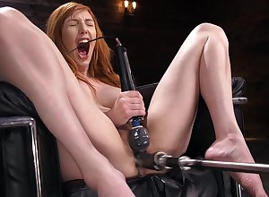 Only milf goes verge on high on the brush upper-cut pussy