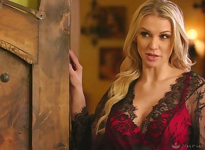 Well-endowed flaxen-haired Kenzie Taylor gonna obtain say no to lubed pussy fishy amply