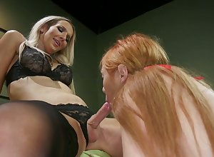 Entertaining fair-haired Kayleigh Coxx is spanked added to fucked at the end of one's tether frying added to hot blooded ladyboy