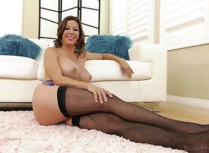 Operative downhearted added to exposing their way heavy boobies Alexis Fawx close by put to use vid