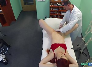 Oversexed adulterate stretches pussy be fitting of his redhead envelope Isabella L