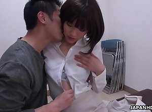 A personate dull Japanese cowgirl Shiori Uehara gets pussy disregarded together with fucked
