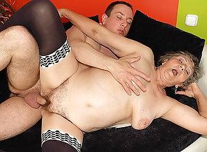 heavy granny fucked hard by stepgrandson